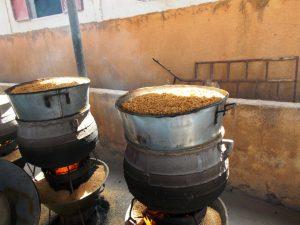 Pridelava parboiled riža.