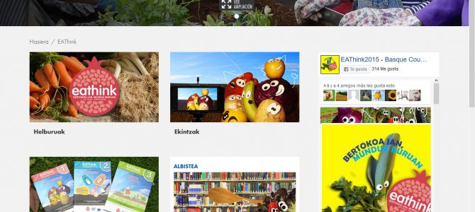 EAThink proiektuaren webgune berria: material didaktikoa, ekimenak, deialdiak? eta askoz gehiago!