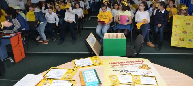 """Participarea la campania """"Salvăm albinele, salvăm viaţa!"""", elevii clasei a VII-a"""
