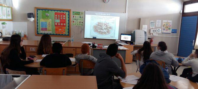 Οι μαθητές των τμημάτων Α4 και Α6 του Γυμνασίου Αγίου Αθανασίου προβληματίζονται μετά τη διδασκαλία της ενότητας «Σπατάλη Τροφίμων»