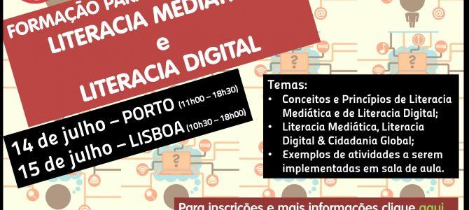 INSCRIÇÕES ABERTAS – Formação para Professores em Literacia Digital e Literacia Mediática