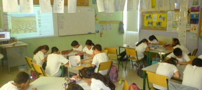 Τα παιδιά από το Δ' Δημοτικό Λακατάμειας μαθαίνουν για την ερημοποίηση