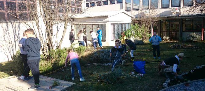 Proljetni radovi u mediteranskom vrtu škole Čavle