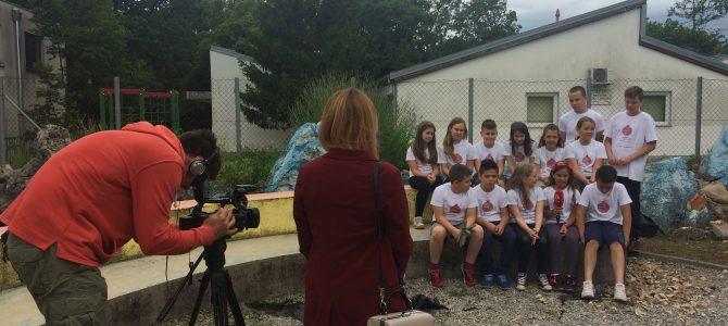 Snimanje EAThink školskog vrta za TV
