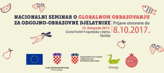 Otvorene prijave na prvi nacionalni seminar o globalnom obrazovanju